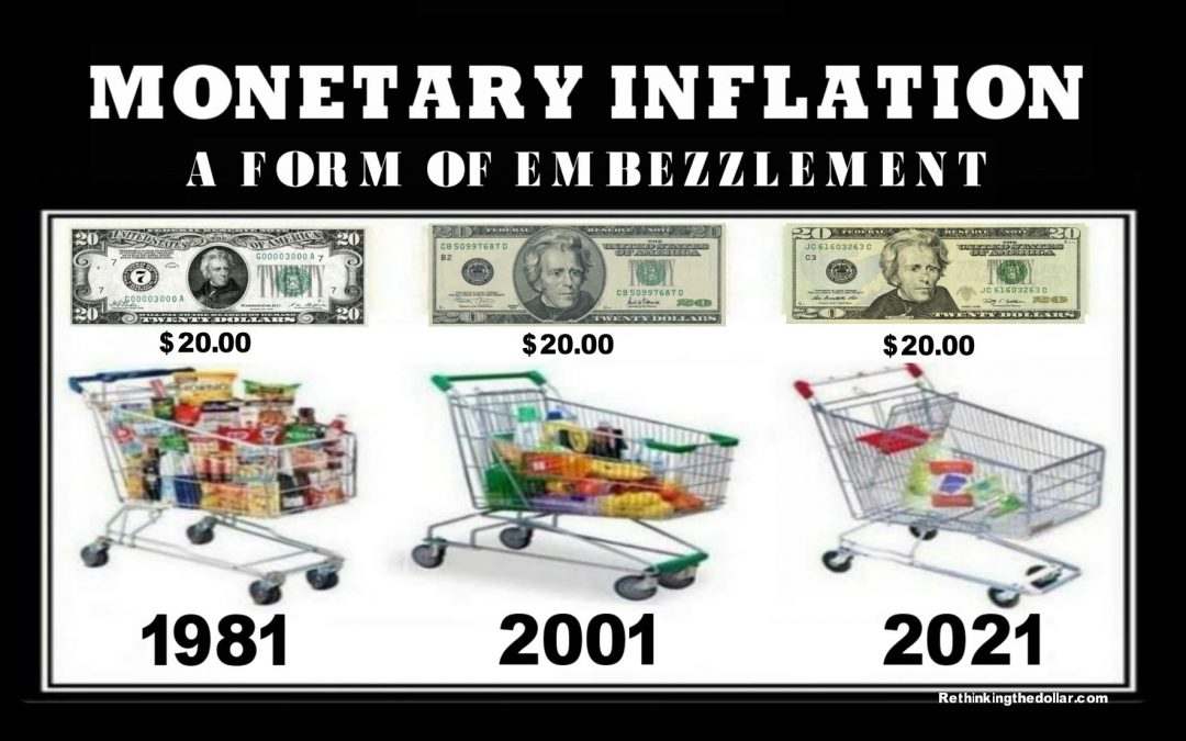 Inflation Is a Form of Embezzlement